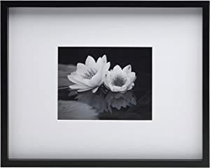 Mikasa 5188620 Black Wood Matted 5x7-Inch Picture Frame, 10-Inch-by-12-Inch