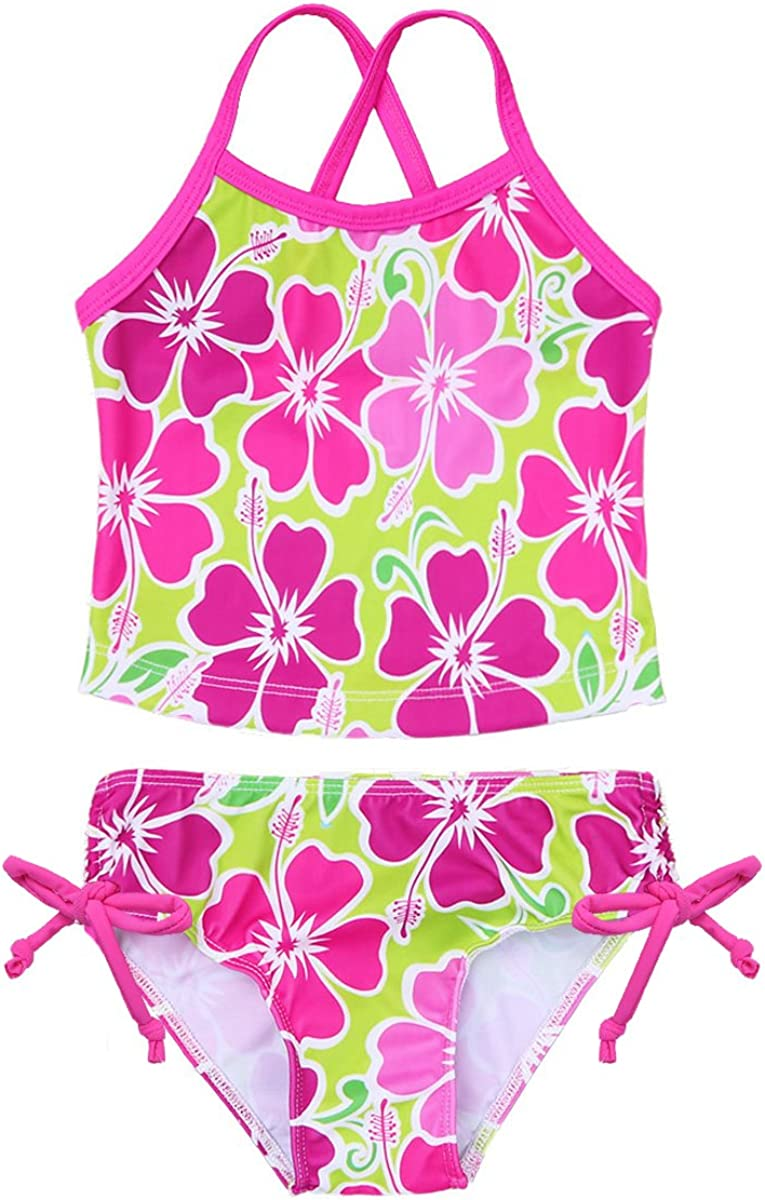 CHICTRY Kids Girls Florence Two Pieces Tankini Beach Sport Bikini Bottoms Swimsuit Bathing Suits