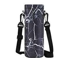Collive Insulated Water Bottle Carriers with Adjustable Shoulder Strap Water Bottle Holder Great for Stainless Steel and Plastic Bottles