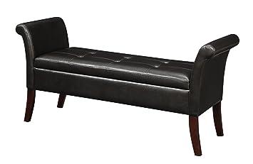 Admirable Convenience Concepts Designs4Comfort Garbo Storage Bench Espresso Andrewgaddart Wooden Chair Designs For Living Room Andrewgaddartcom