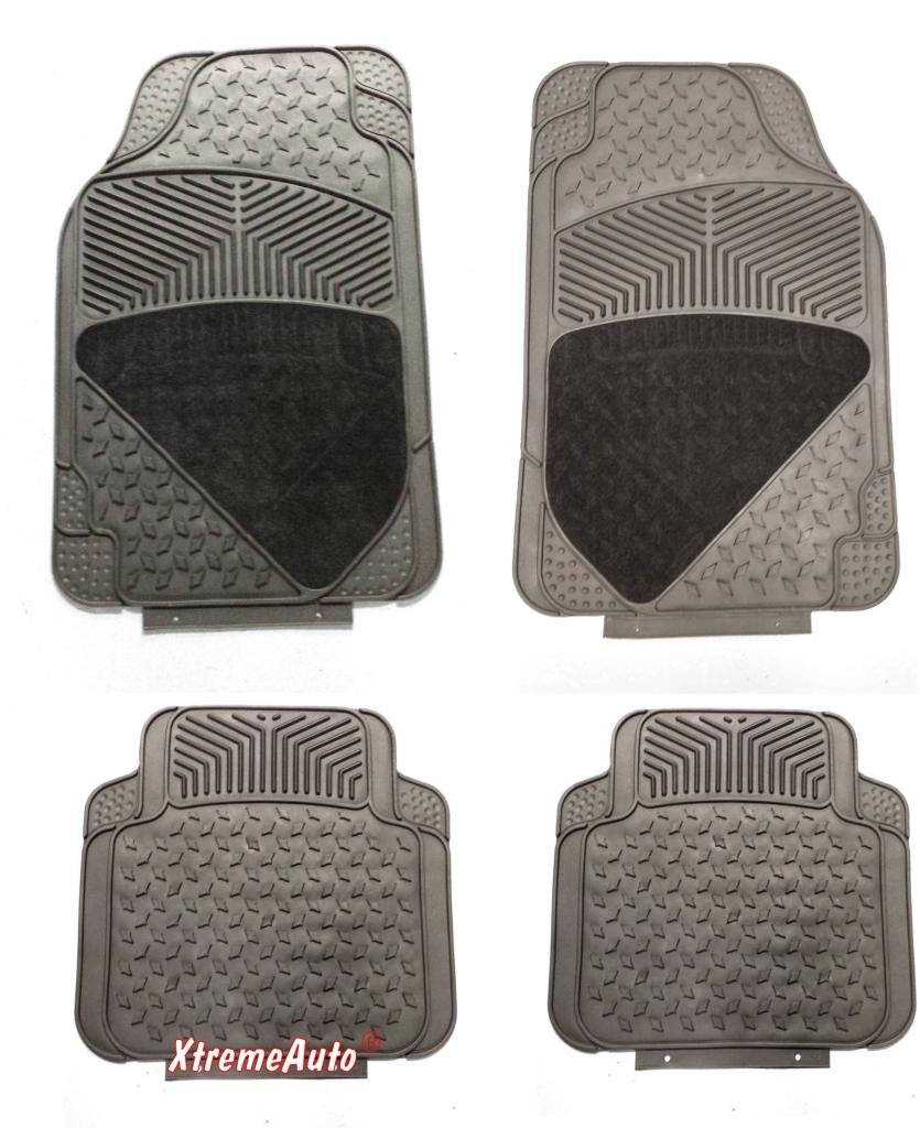 XtremeAuto® UniversRCM Fit Full Set of Front & Rear Carpet / Rubber Car MATS Black -RCM18 Includes XtremeAuto Sticker XtremeAuto®