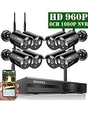 【2019 Nuevo】Sistema de Cámara CCTV Inalámbrica, Cámara de Seguridad Interior/Exterior, IP Cámaras de Visión Nocturna, 1080P NVR 8 960P IP Cámara para Detección de Movimiento/Acceso Remoto Sin HDD