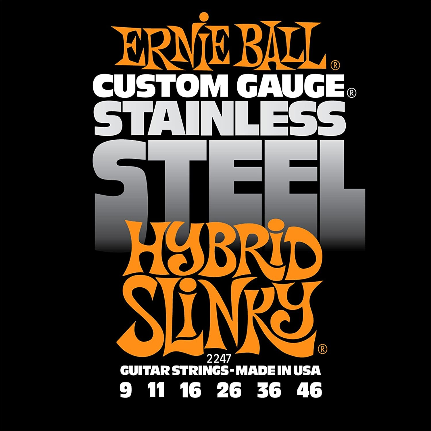 ernie ball stainless steel super slinky set 009