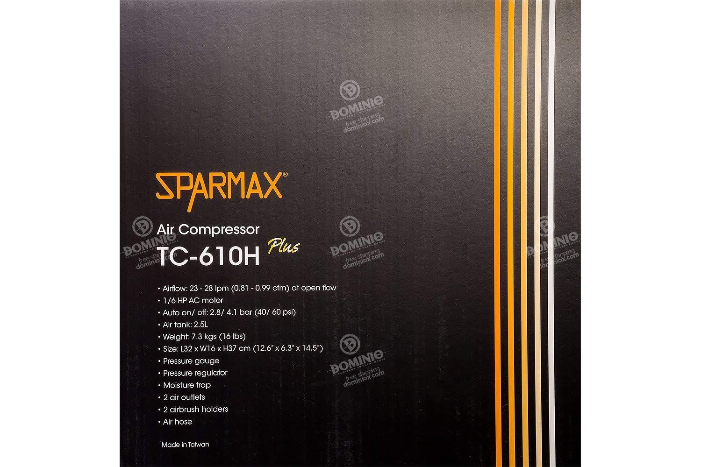 Compresores de aire 28 l//min, 28 bar, 53 dB, Negro, Art airbrush, Harder /& Steenbeck Harder /& Steenbeck Sparmax TC-610H 28l//min Corriente alterna compresor de aire