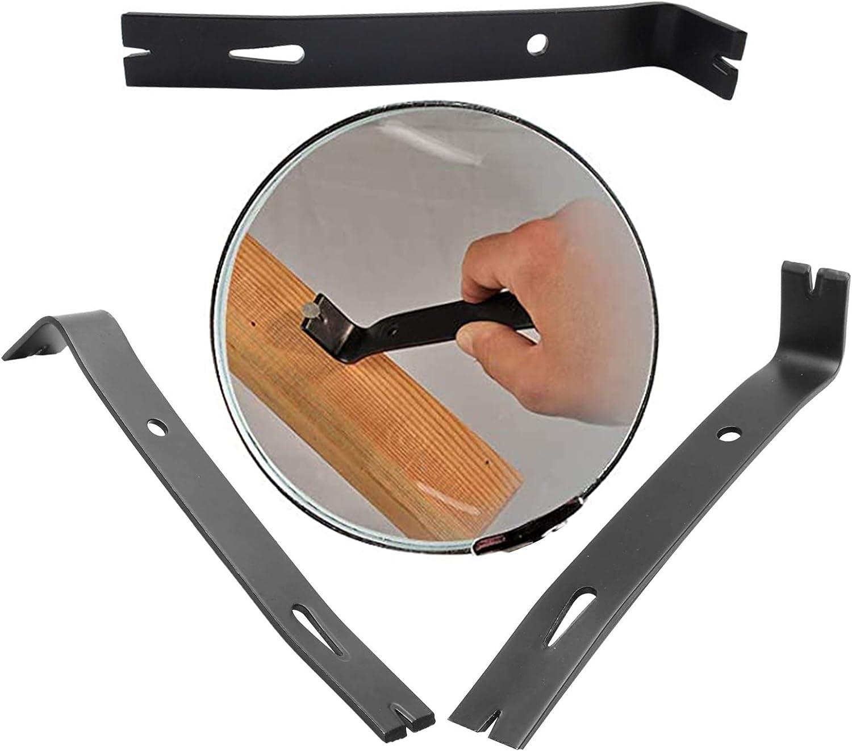 Gurxi Barra de Demolici/ón Barra Pie de Cabra Pie de Vaca Palanca Acero al Carbono Tratada con Calor Forma Ergon/ómica para Trabajos de Renovaci/ón y Demolici/ón 180X35 mm mm Negro)