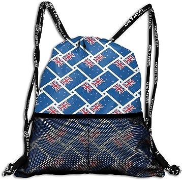 CheChenDengH Bolsa con cordón Drawstring Bag Sack Pack Kids Adults Storage Bag for Gym Traveling (New Zealand Flag): Amazon.es: Equipaje