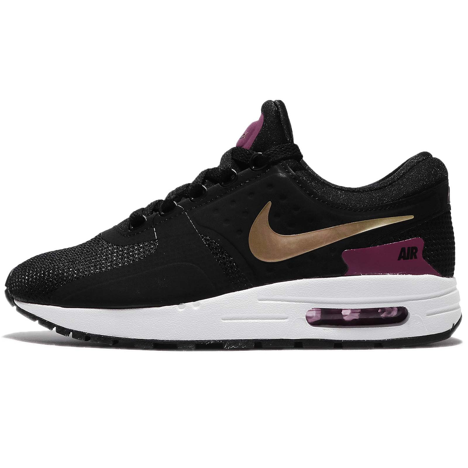 outlet store 9b173 6b3bc Galleon - NIKE Kids Air Max Zero Essential GS, Black Metallic Gold-White, Youth  Size 5
