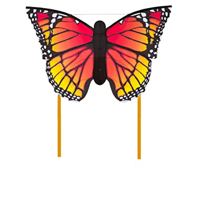 HQ Kites Monarch L Butterfly Kite 50 Inch Single - Line Kite with Tail - Active Outdoor Fun for Ages 5 and Up: Toys & Games