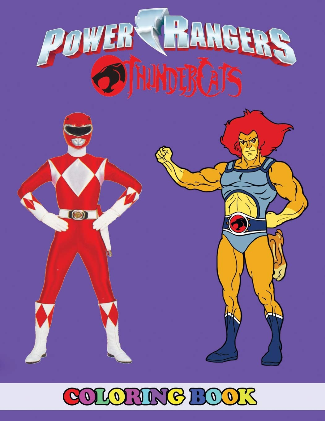 Amazon.com: Power Rangers and Thunder Cats Coloring Book: 2 in 1 ...