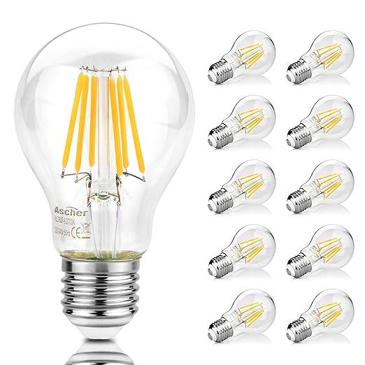 32 opinioni per Ascher Lampadina LED E27 a Filamento,