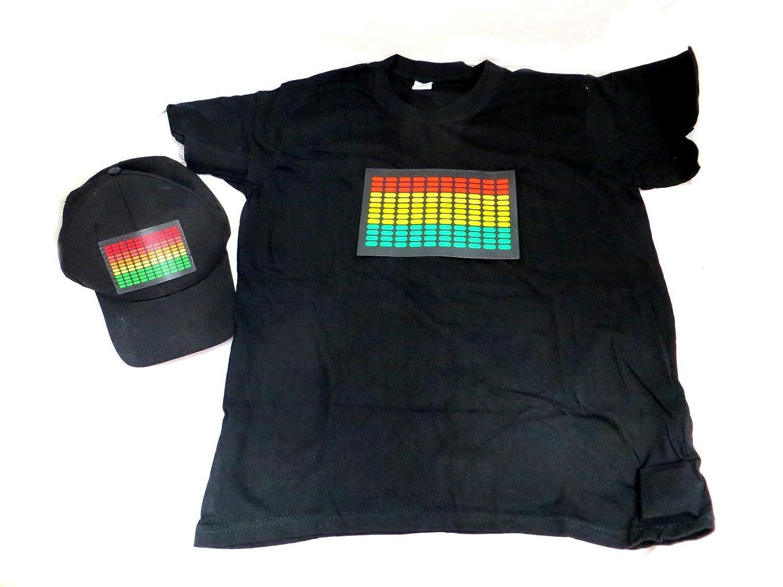 コンボDJ LED点滅Equalizer e-q Rave Light Up Hat andシャツL (大)   B00DBFWX7Y