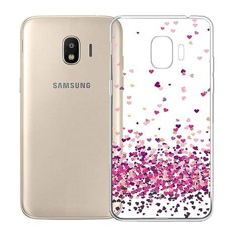 Funda para Samsung Galaxy Grand Prime Pro 2018 Carcasa , YIGA Moda Amar Caso Cristal Transparente