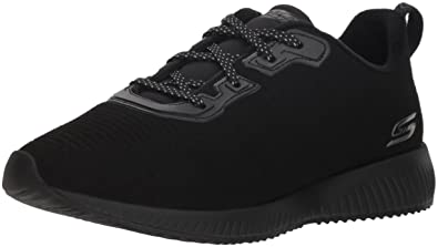 017d49bd1c24a BOBS from Skechers Women's Bobs Squad - Team Bobs. Lace Up Embossed  Microfiber Suede w