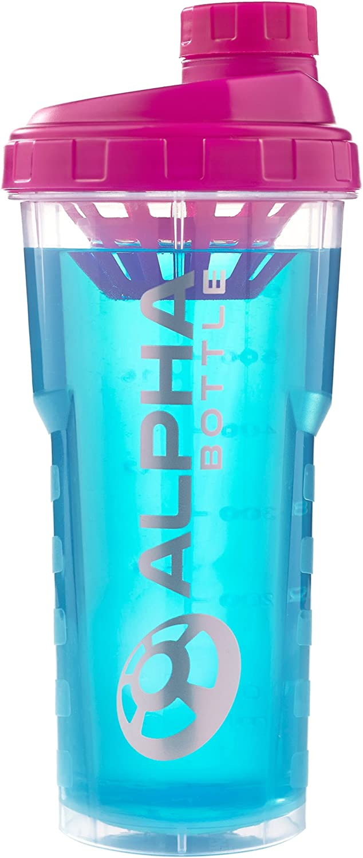 Alpha Bottle 750ml sin BPA y DEHP Shaker proteína (Rosa ...