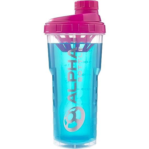 62 opinioni per Shaker proteine Alpha Bottle 750, 750ml senza BPA e DEHP (rosa)