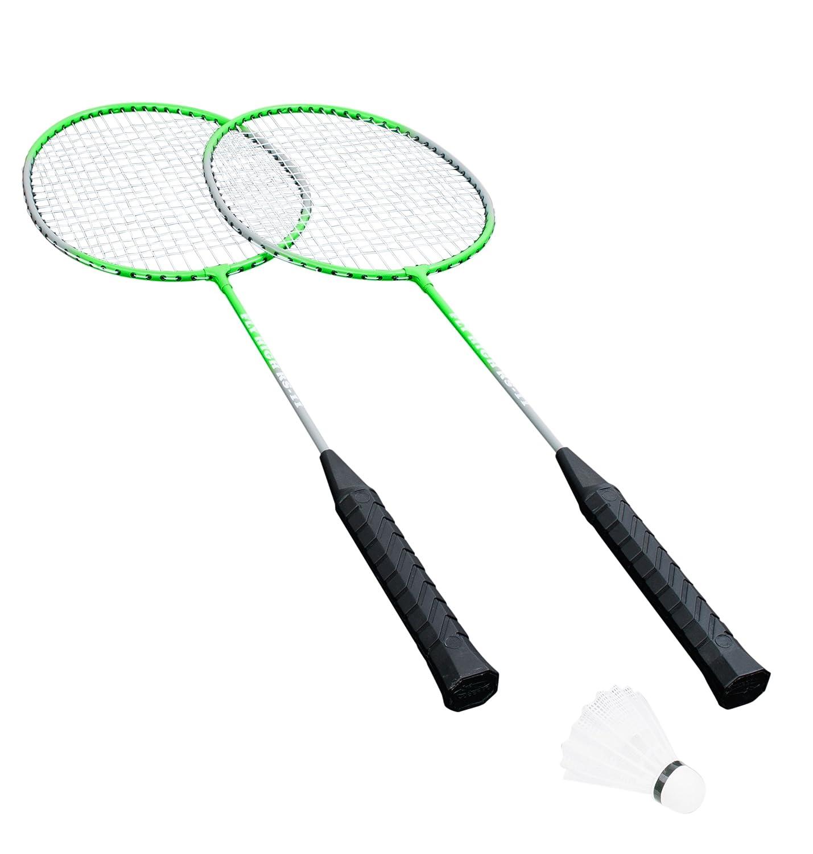 HUDORA Badminton-Set Fly High - 2 Badminton-Schlä ger + Federball - 76414