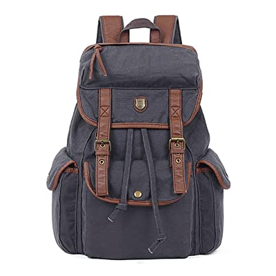 Catata Women Men Vintage Fabric Cotton Leather Multipurpose Backpack 70%OFF