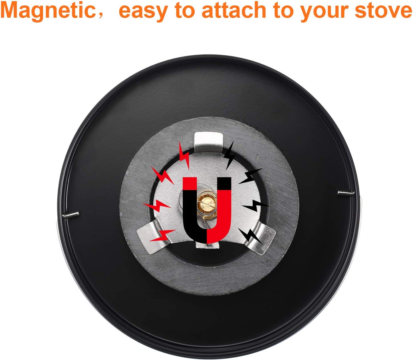 Magnetic Stove Thermometer Wood Burner Top Thermometer Stove Temperature Meter Stove Flue Pipe Thermometer Fireplace Accessories for Avoiding Stove Fan Damaged by Overheating 2