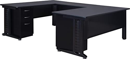 Regency Fusion 72-Inch Double Pedestal U-Desk