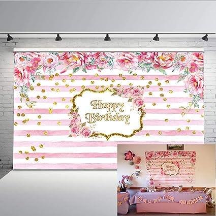 Mehofoto Geburtstag Kulisse 7 X 5 Ft Rosa Und Weißen Kamera