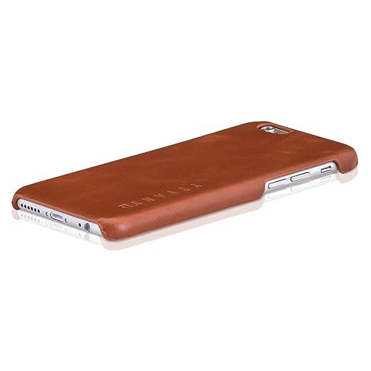 """42 opinioni per iPhone 6 / 6s Custodia in Pelle Marrone- KANVASA Cover ultrasottile """"One"""" per"""