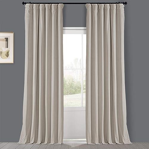 HPD Half Price Drapes VPYC-198593-108 Heritage Plush Velvet Curtain 1 Panel
