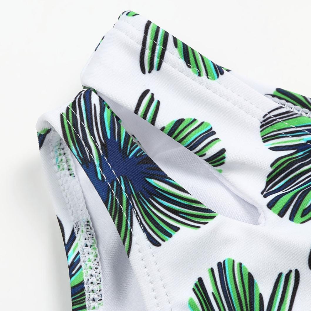 Vincent/&July 2Pcs Toddler Baby Girls Bandage Leave Print Swimwear Bathing Bikini Outfits Swimsuit