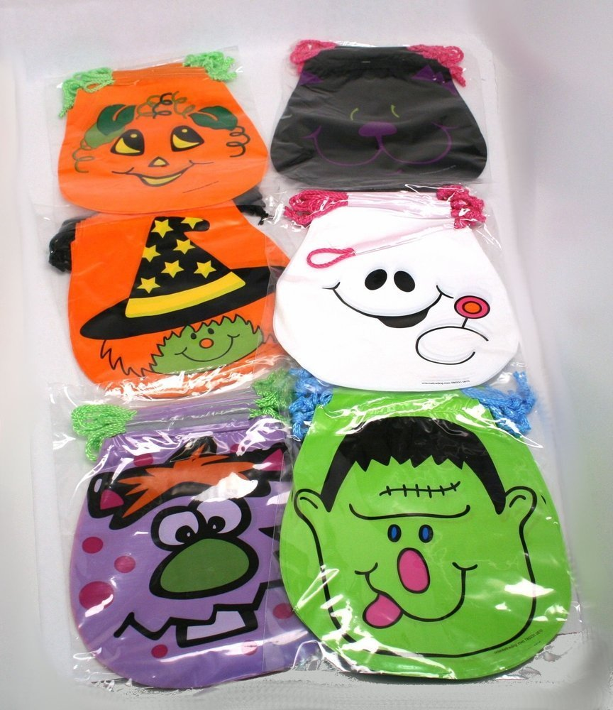 Amazon.com: Drawstring Halloween Goody Bags : package of 72: Toys ...