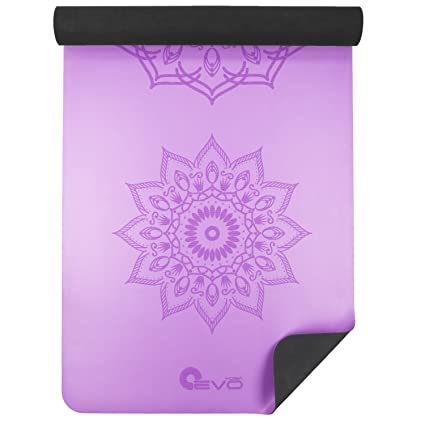 Yoga EVO Mat for Yoga and Pilates 3 mm Workout Non Slip Exercise Gym Large Mat Mandala Print