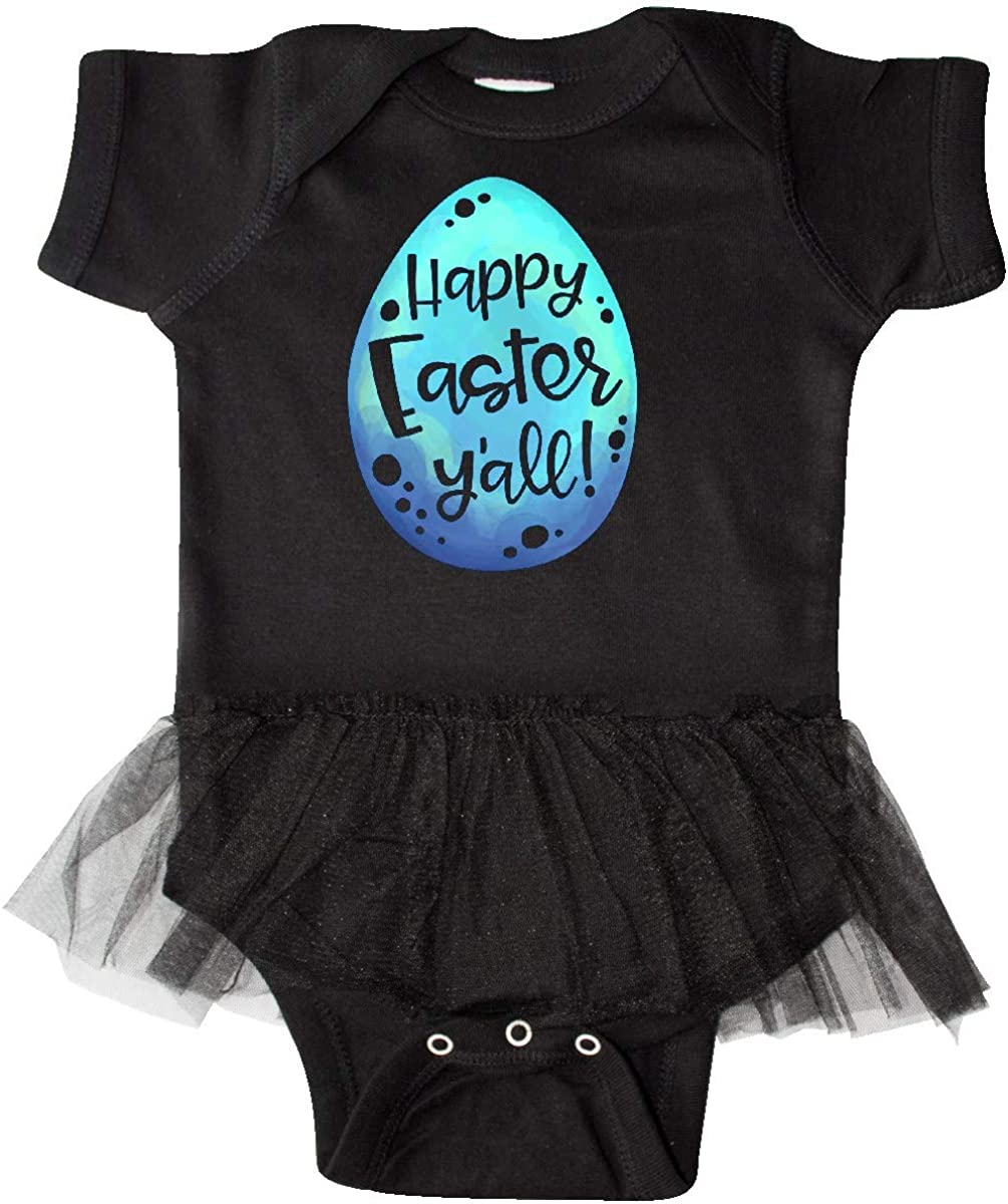 inktastic Happy Easter Yall with Blue Easter Egg Infant Tutu Bodysuit
