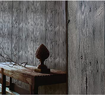 blooming wall3d vintage faux wood grain wood panel textured wallpaper roll for livingroom bedroom - Wood Grain Wall Paper