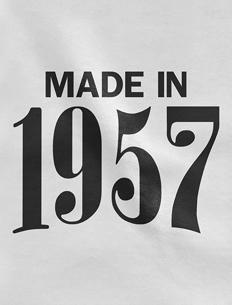 Made in 1957 Retro 60th Birthday Gift 3//4 Women Sleeve Baseball Jersey Shirt X-Large red//White