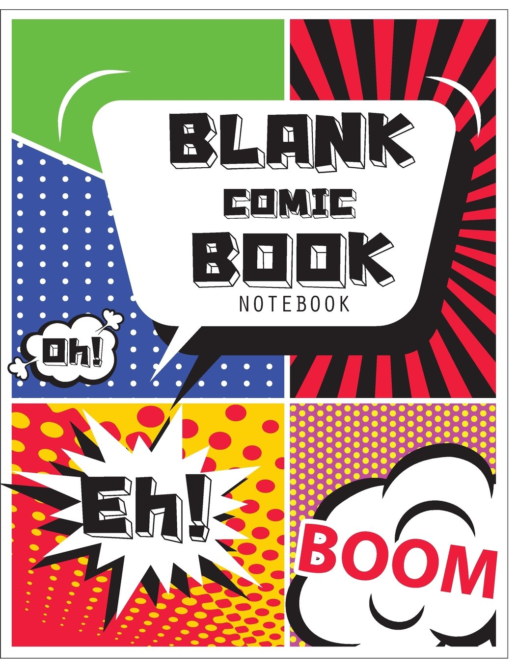 Blank Comic Book Notebook: Blank comic books panel for kids (Volume 20)