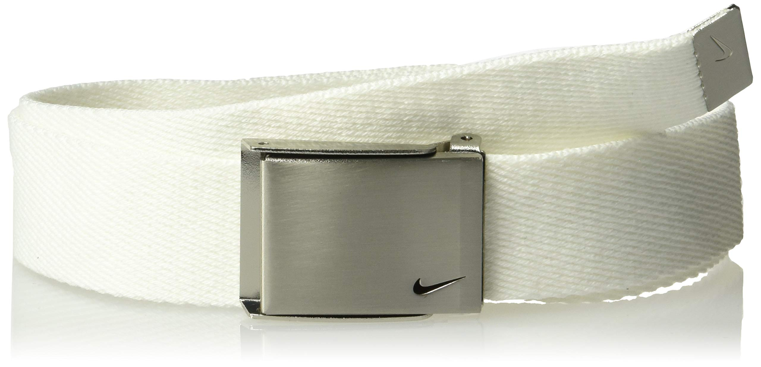 Nike Big Boys' Single Web Belt, White, One Size