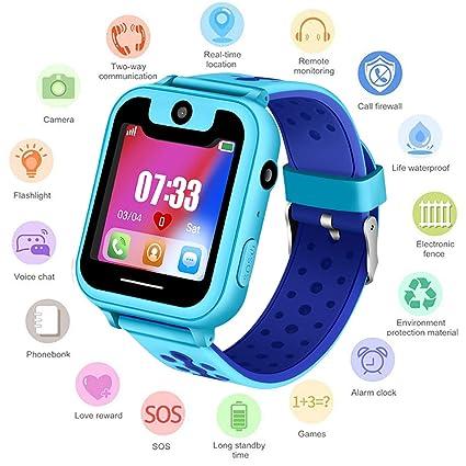 PTHTECHUS Niños Smartwatch - Reloj de Pulsera Inteligente con ...