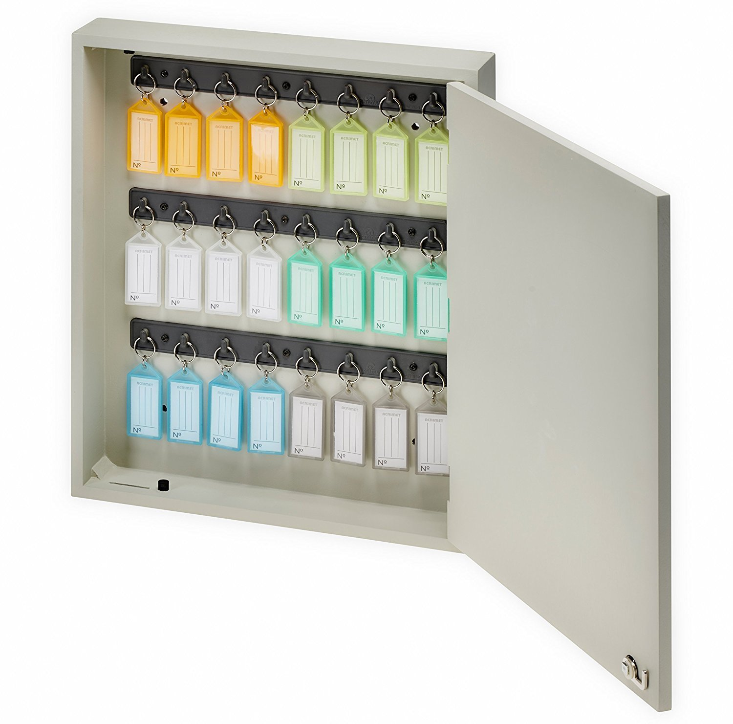 Acrimet Key Cabinet 24 Positions with 24 Key Tags (Beige Color) 161.0 Areia/Sortidos