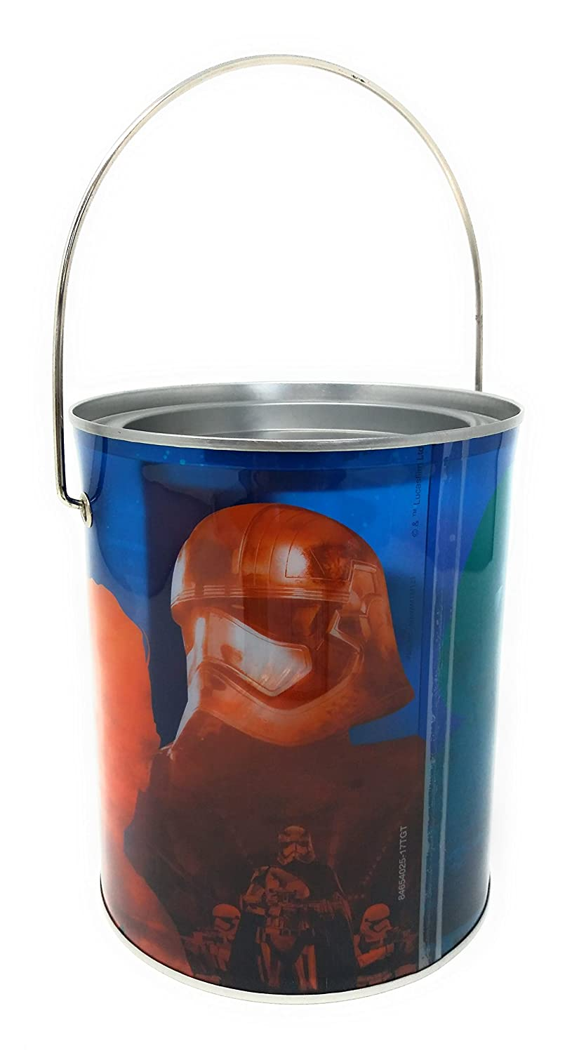 Valentine Paint Can Tin Mailbox With Valentines Cards and Stickers Ideal for School Classroon Exchange Paper Mgic Group Star Wars