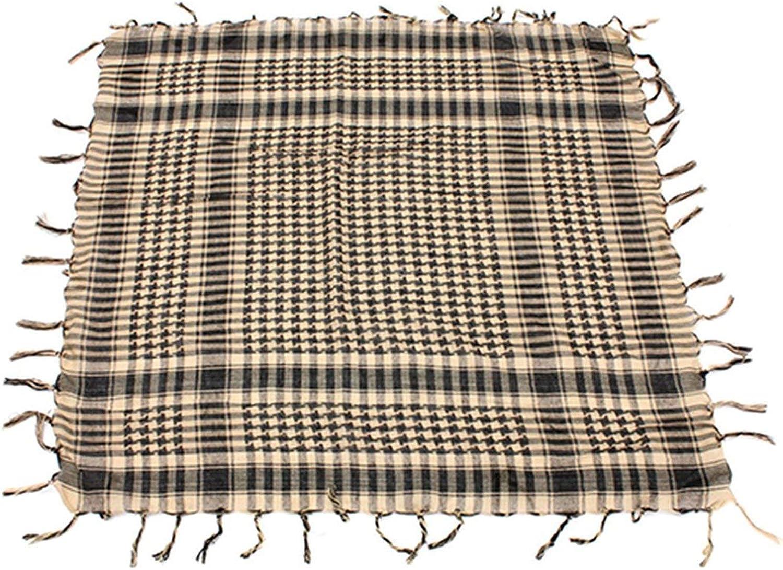 REFURBISHHOUSE Sciarpa unisex in cotone leggero a quadri nappa arabo deserto Shemagh nero