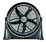 Taurus Air Black Ventilador de Piso, 20 Pulgadas, 3 Velocidades, Inclinacion Ajustable, Doble Rejilla de Seguridad