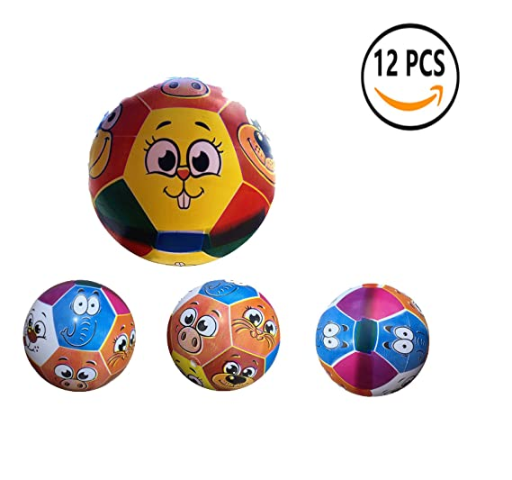 12 Pcs Juguete De Pelota De Playa De Balon 22CM (Animal): Amazon ...