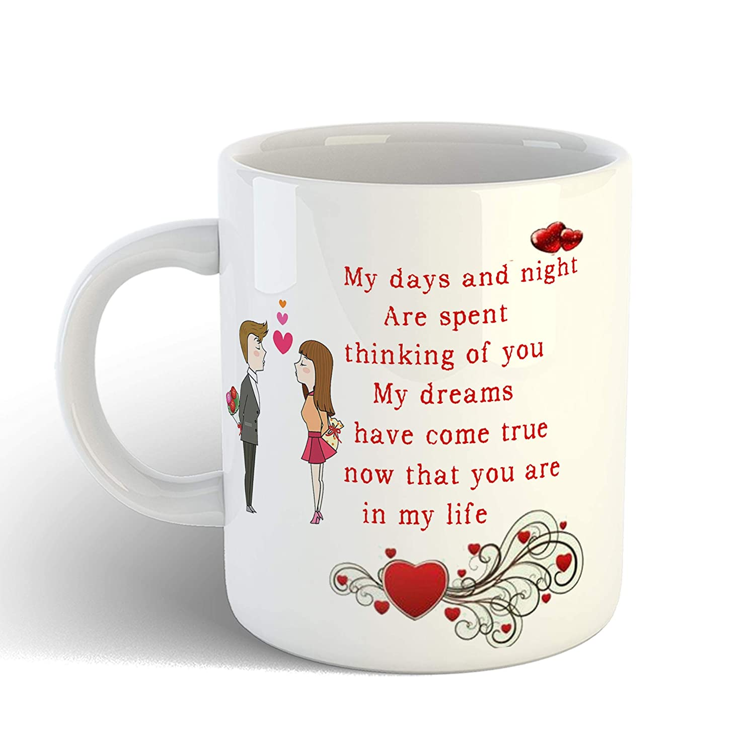 Buy Ikraft Love And Romance Quotes Printed Coffee Mug Couple Printed Mug Gift For Lover Girlfriend Boyfriend Wife Husband Online At Low Prices In India Amazon In