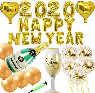 Jolily 2020 Feliz año nuevo Víspera Navidad Decoraciones de fiesta ...
