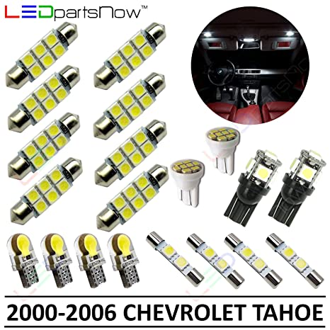 amazon com: ledpartsnow interior led lights replacement for 2000-2006 chevy  tahoe accessories package kit (20 bulbs), white: automotive