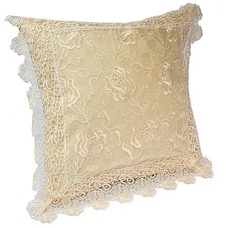 Amazon.com: kilofly – Juego decorativo clásico Lace – Funda ...