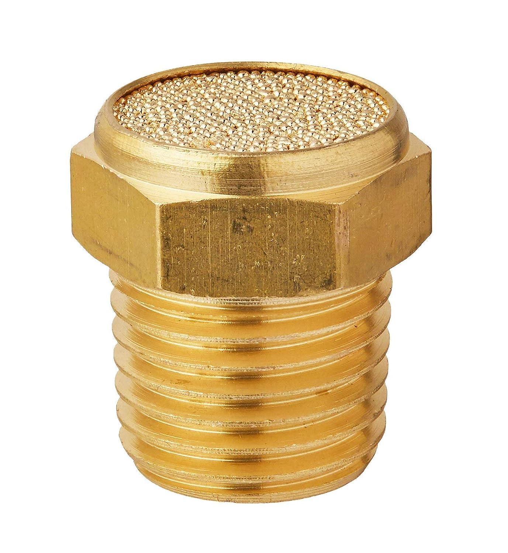 Karcy Pack of 10 Brass 1//4 NPT Flat Pneumatic Muffler Filter Silencer Fitting