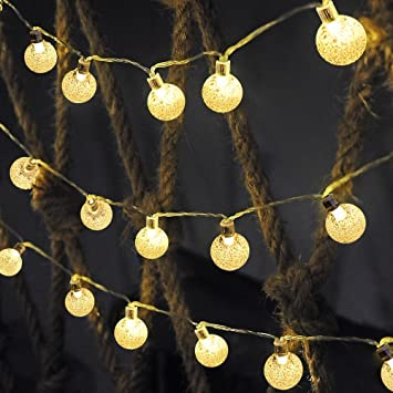 Solar outdoor string lights ascher 30 led fairy light warm white solar outdoor string lights ascher 30 led fairy light warm white crystal ball christmas globe aloadofball Image collections