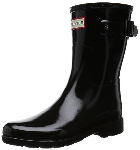 886cecd3f hunter Women's Original Refined Short Gloss Wellington Boots, (Black), 4 UK  37
