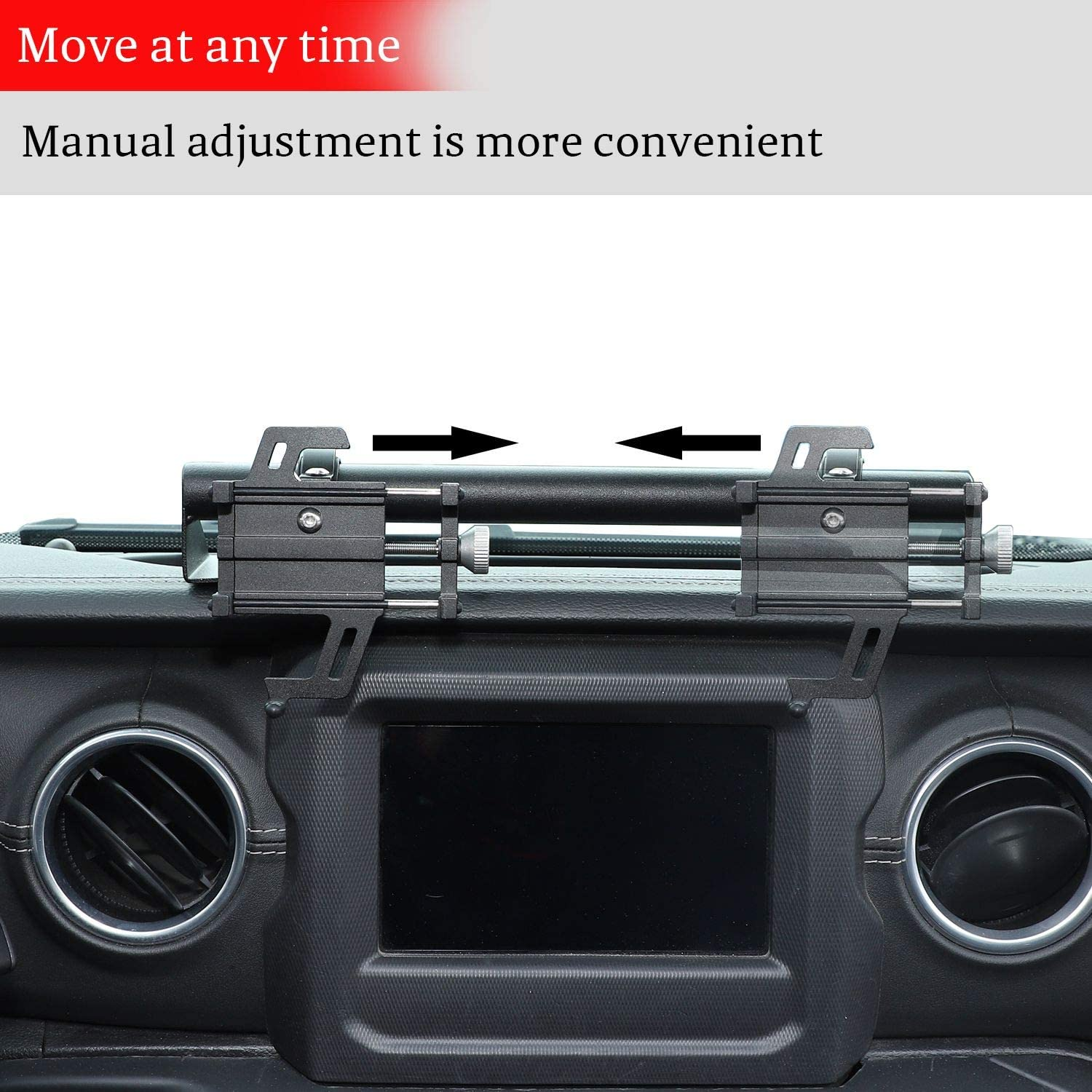Dashboard Cell Phone Mount for 2018-2021 Jeep Wrangler JL JLU for ...