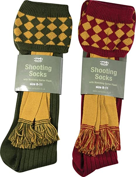 Jack Pyke of England Shooting Socks Green (1 Pair of Green Only)