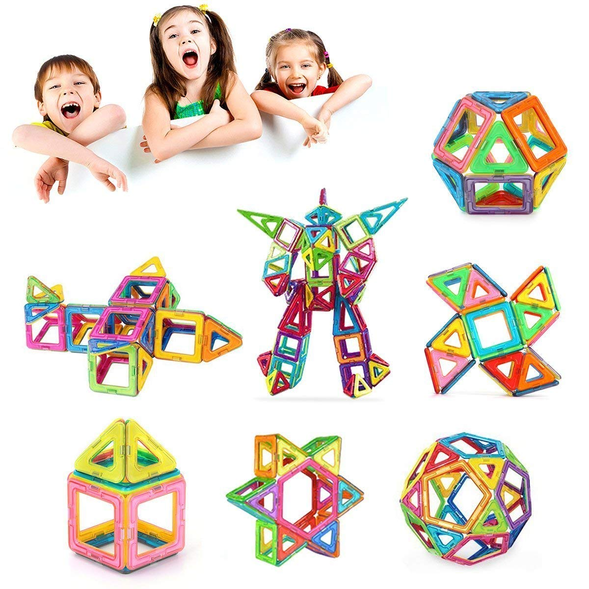 Morcare 76pcs Magnetic Blocks Magnetic Building Blocks Toys for Boys Girls, Magnet Tiles Molding Kits for Kids by Morcare (Image #2)